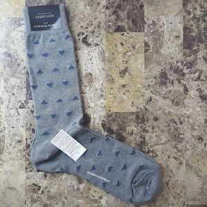 Banana Republic Grey Triangle Casual Crew Socks